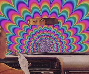 aesthetic, psychedelic, and car image