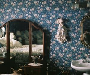 vintage, room, and mirror image