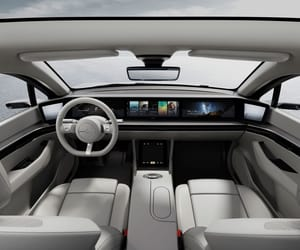 best electric car, sony concept car, and sony vision s image