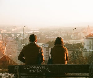 couple, tumblr, and city image