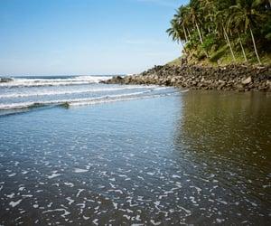 beach, el salvador, and Latin America image
