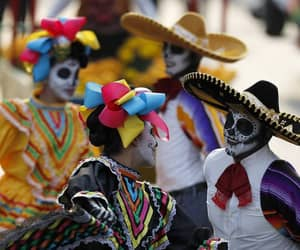 day of the dead, mexico, and parade image