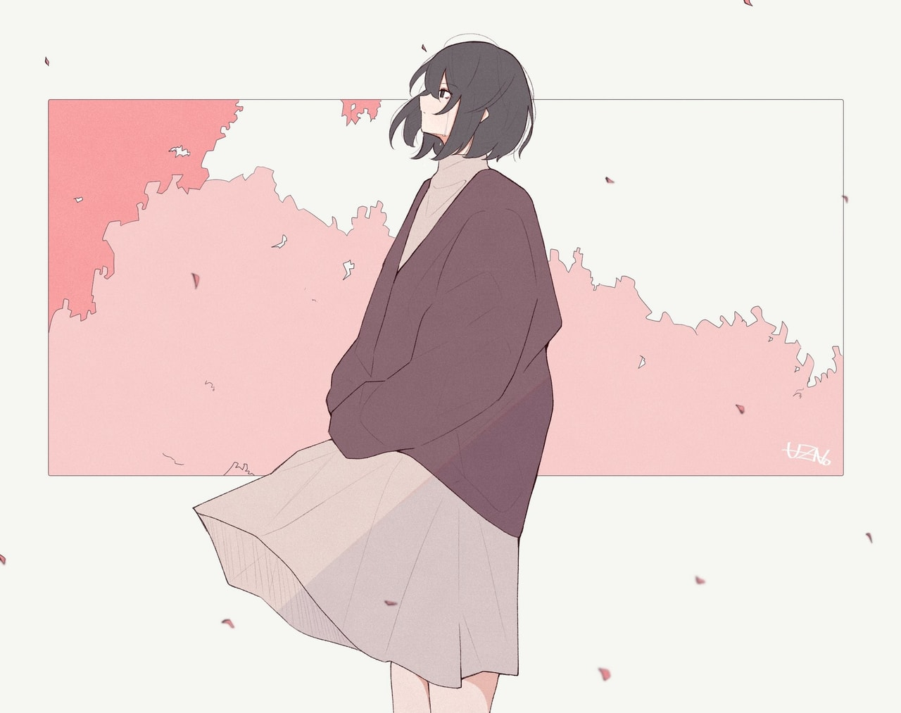 aesthetic, anime girl, and illustration image