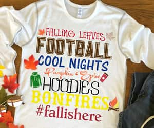 etsy, football decal, and fall leaves image