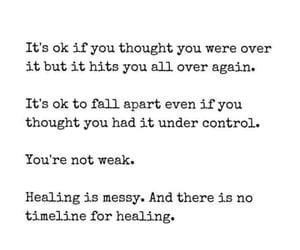 healing, messy, and weak image