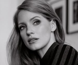jessica chastain and black and white image