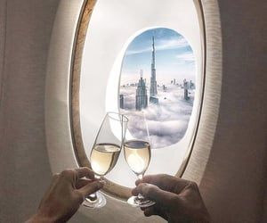 champagne, travel, and cheers image