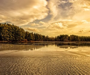 clouds, massachusetts, and reflections image
