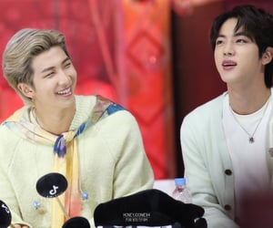 jin, namjoon, and smile image
