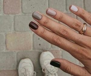 nails, brown, and ring image