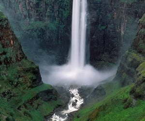 africa, nature, and waterfall image