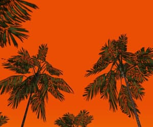 art, green, and orange image