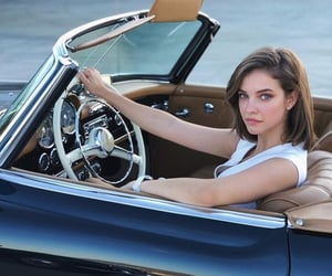 car, model, and barbara palvin image