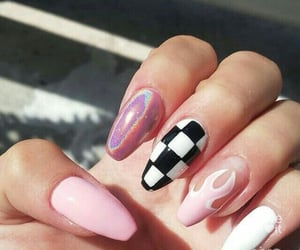 nails, goals, and pink image