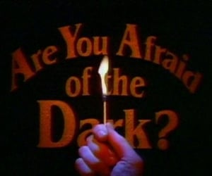 dark, afraid, and fire image