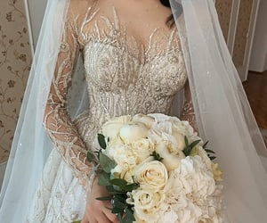 bride, fashion, and dresses image
