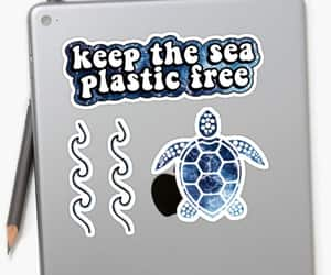marine biologist, sticker pack, and ocean cleanup image
