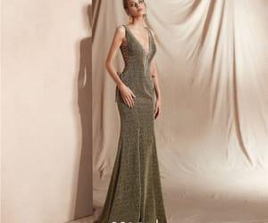 girl, glitter, and formal dresses image
