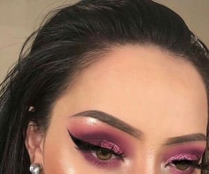 makeup, style, and pink image