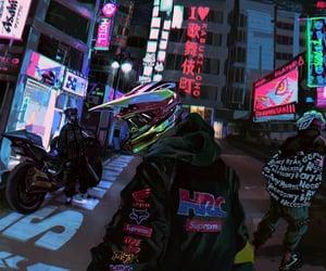 city, illustration, and japan image