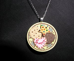 cookie necklace, miniature jewelry, and cookie jewelry image