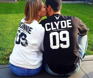 bonnie and clyde, couple, and couple sweater image