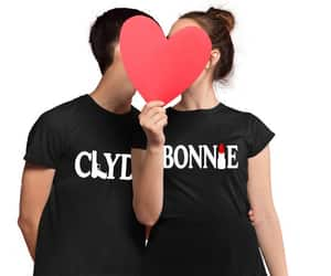 bonnie and clyde, couple, and bonnie clyde shirts image