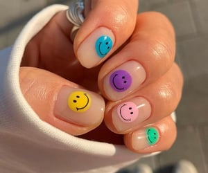 nails, colors, and smile image