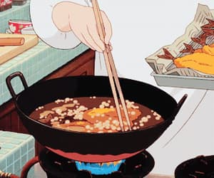 anime, cooking, and delicious image