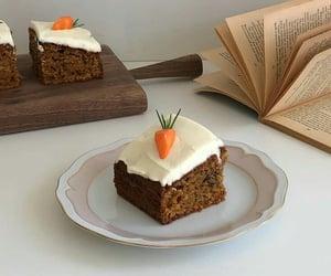 aesthetic, carrot cake, and dessert image