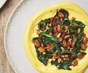 spinach, ottolenghi, and golden raisin image