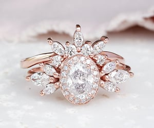 diamond ring, etsy, and crown ring image