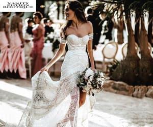boho, bride, and bridal image