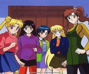anime, luna, and sailor mercury image