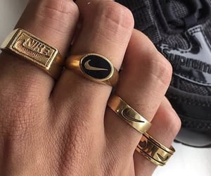 nike, gold, and rings image