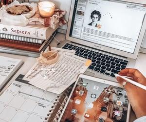 study, school, and apple image