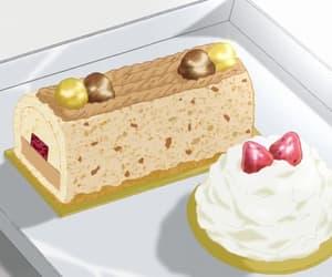 cake, strawberry, and cream image