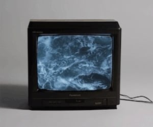 tv, sea, and grunge image
