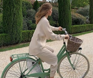 girl, bicycle, and bike image