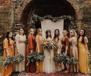 beauty, bouquet, and bride image
