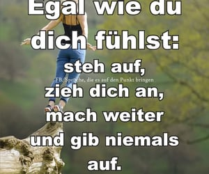 deutsch, never give up, and text image