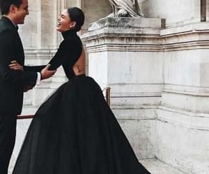 classy, black, and gown image