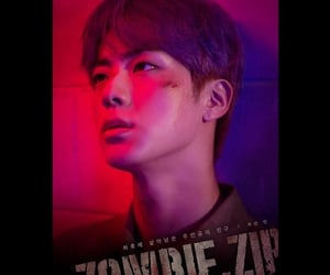 jin, bts, and zombies image