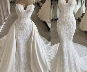 wedding gowns, ivory wedding dress, and cheap bridal dresses image