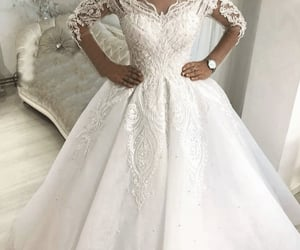 princess wedding dress, cheap bridal dresses, and boho wedding dress image