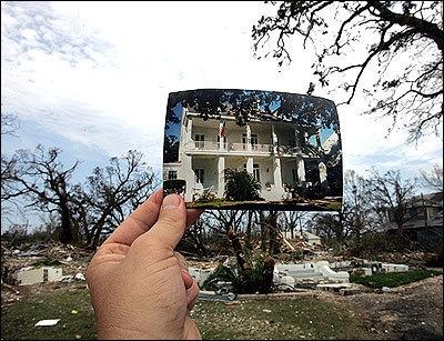 destruction and Hurricane Katrina image