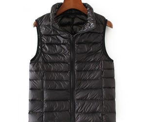 black, puffer, and vest image