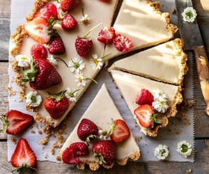 food, delicious, and strawberry image