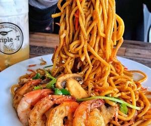 food, pasta, and love image