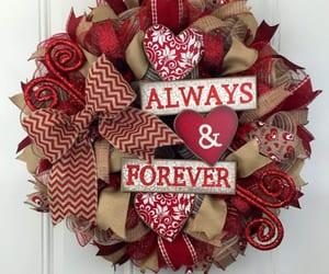 diy valentine wreath, valentine wreaths, and valentine wreaths ideas image